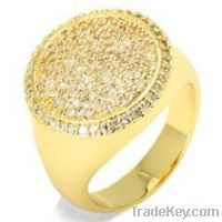 Sell offer gold plated ring silver