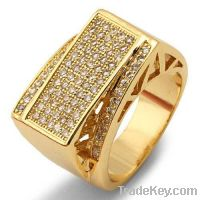 Sell Gold plated micro pave silver cz ring