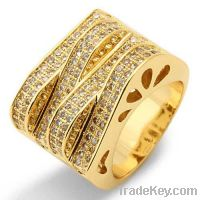 Sell ladies micro pavc 925 sterling silver rings
