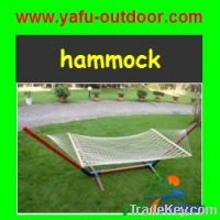 cotton rope hammock  with wooden bar