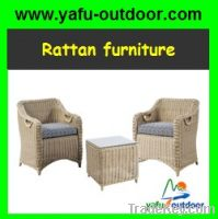 2 pcs rattan chair