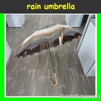Double layers rain umbrella