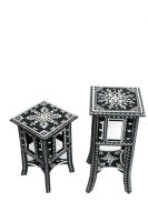 wooden painted black stool small  and medium