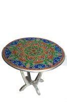 wooden painted  meena table