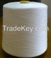 100% polyester spun yarn raw white