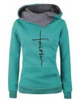 abraj.yomeat.com Women's Hoodies & Sweatshirts Women Cowl Neck Hoodie Sweater Long sleeve