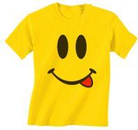 Smile Face Emoji Funny 100% Cotton Unisex