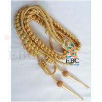 Military Aiguillette Gold Wire Double Tip, Uniform Aiguillette, Police Aiguillette