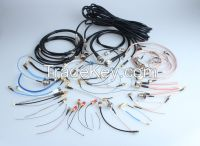 RF Cable Assembly with different RF connectors and coaxial cable