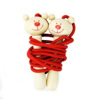 Wooden Bear Skipping Rope
