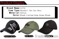 ALPHA Baseball Hat Sun Hats Golf sports cotton Cap Black Green Caps
