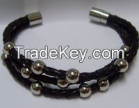 Braided Leather Bracelets
