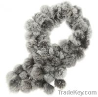 Rabbit hair ball scarf