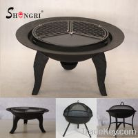 camping cast iron fire pit