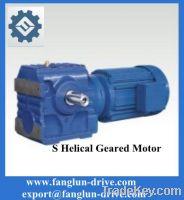 S series parallel shaft gearmotor