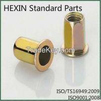 Hot Sale Standard Carbon Steel Flat Head Rivet Nuts Fasteners