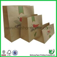 kraft paper bag without handle for food packaging