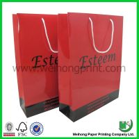 Customized color printing paper bag