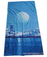 microfiber suede beach towel with heat transfer printing (YES-020)