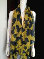 floral printed voile scarf in big stock