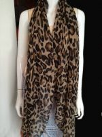 printed voile scarf in stock