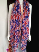 100% polyester printed scarf in stock