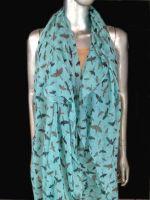 birds printed scarf