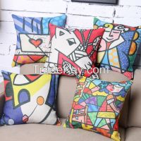 Abstract Jigsaw-----see the world in another view angle Mineral Nano Crystal Cotton & Linen Pillow