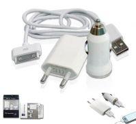 Wholesale 3in1 EU plug car USB charger