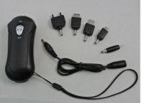 Rotary Mobile Charger with LED Flashlight