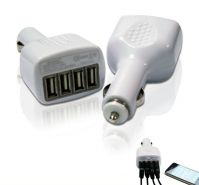 4 port usb car charger with 2.1A
