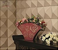 3D leather wall art for restaurant
