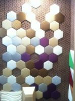 leather wall panels with mosaics style---hexagon leather wall for restaurant