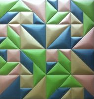 high quality faux leather wall panels with mosaic style in restaurant