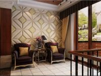 Unique 4D leather wall panels for villas room