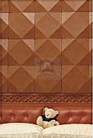 3D leather wall panels for bedroom