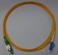FC - LC Fiber Optic Patch Cord, High precision of ceramic ferrule,