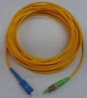 FC-SC Fiber Optic Patch Cord, G652D High precision of ceramic ferrule