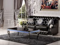 Luxury Glass Hotel Coffee Table with glass counter top(CJ-9028)