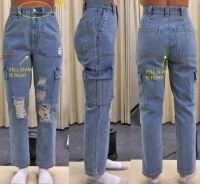 LADIES DENIM RIPPED TROUSERS OR PANTS
