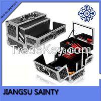 Diamond ABS surface makeup brush organizer case pro small makeup travel case