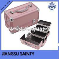 Pink professional makeup storage case wholesale