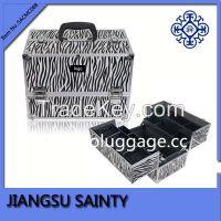 Popular zebra printing aluminum makeup artist case