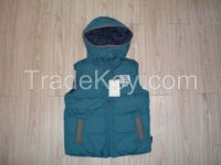 hot sale children vest with hood padded waistcoats