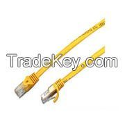 Cat.5e Patch Cord UTP Snagless Yellow Ligule Molded Boot