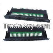UTP Telephone patch panel, 50 port, LSA IDC