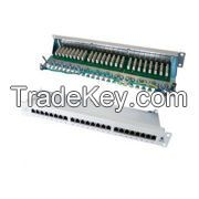 Cat.6 FTP Patch Panel, 24 Port, LSA IDC