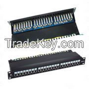 Cat.5e FTP Patch Panel, 24 Port, LSA IDC