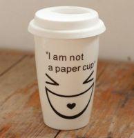 Porcelain Mug with silicone Lid