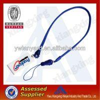 2014 fashion plastic zipper neck lanyard/zipper lanyard strap
